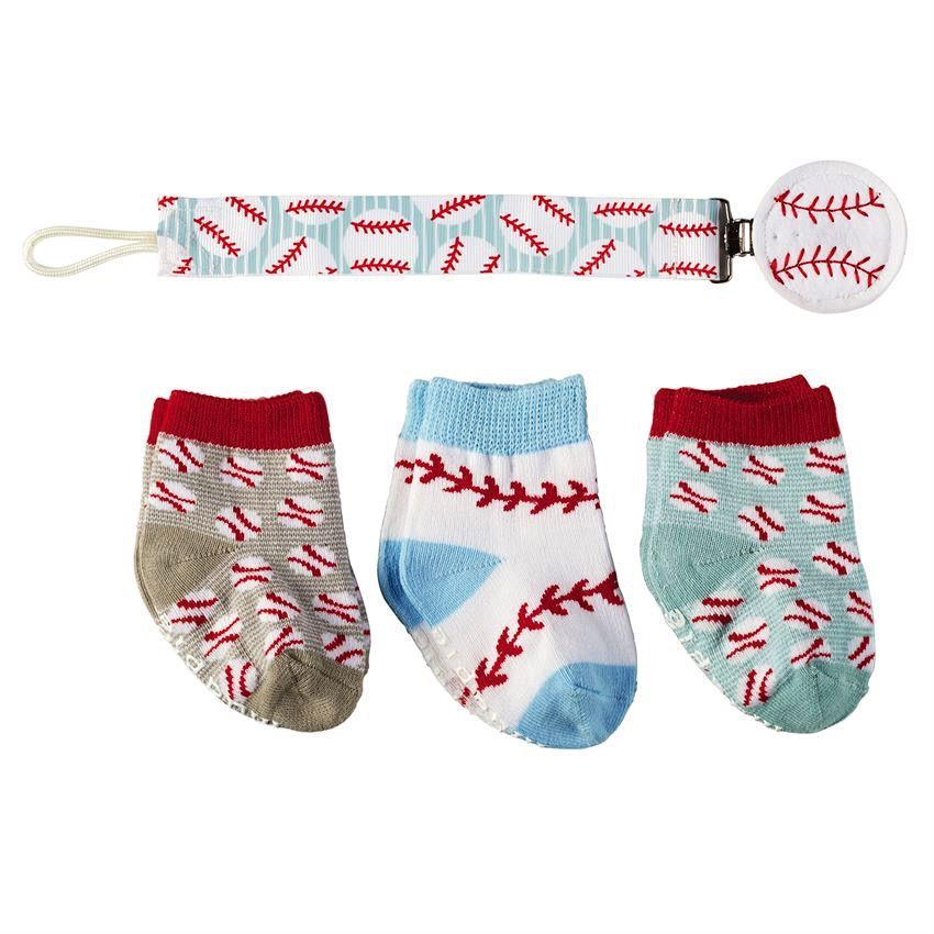 Baseball Sock and Pacy Clip Set