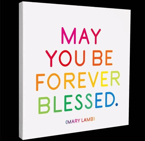 Sign Forever Blessed - Quotable Canvas