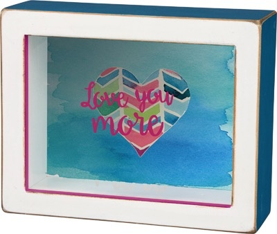 Sign Love You More - Shadow Box
