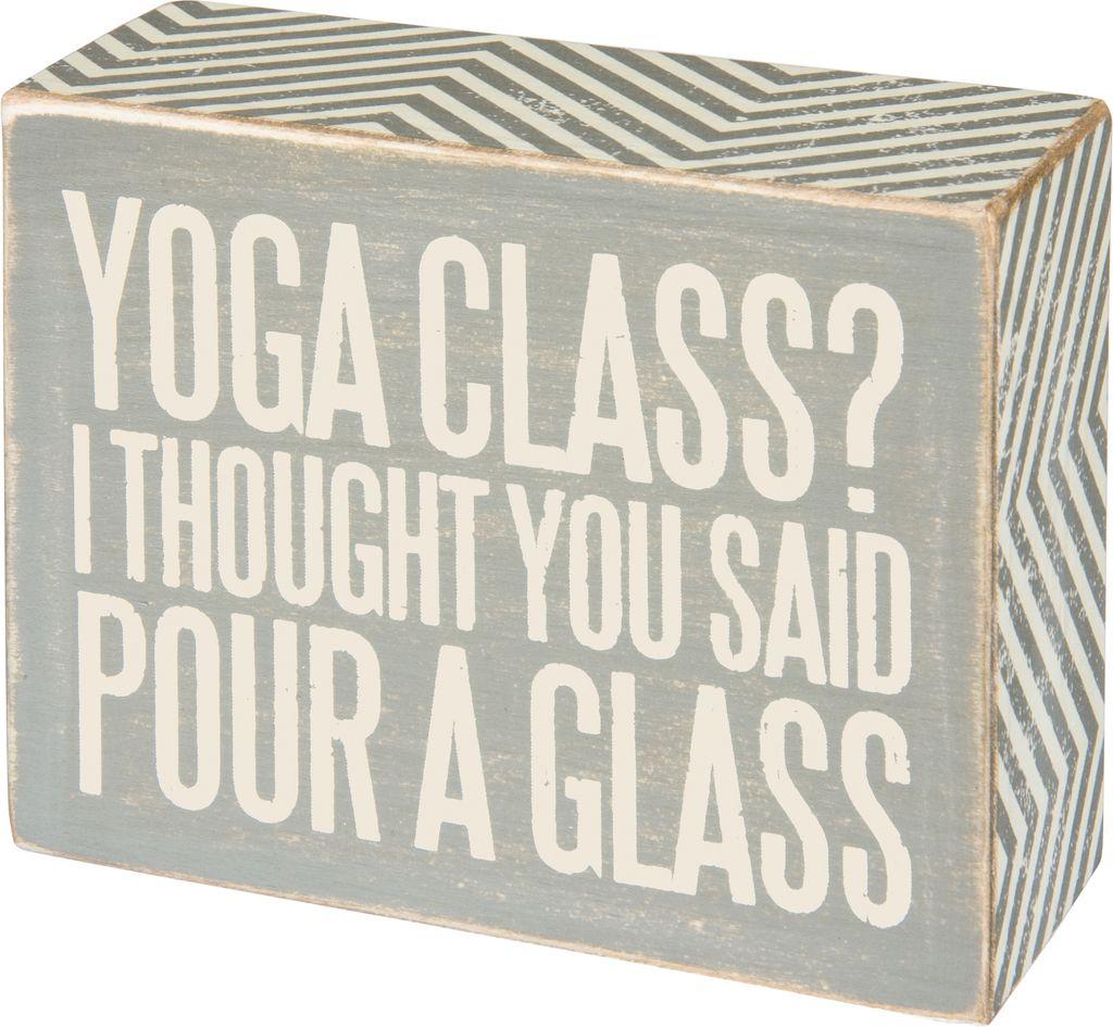 Sign Yoga Class -  Box Sign