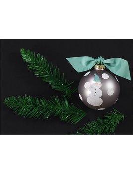 Ornament Snowman Mint Glass Ornament