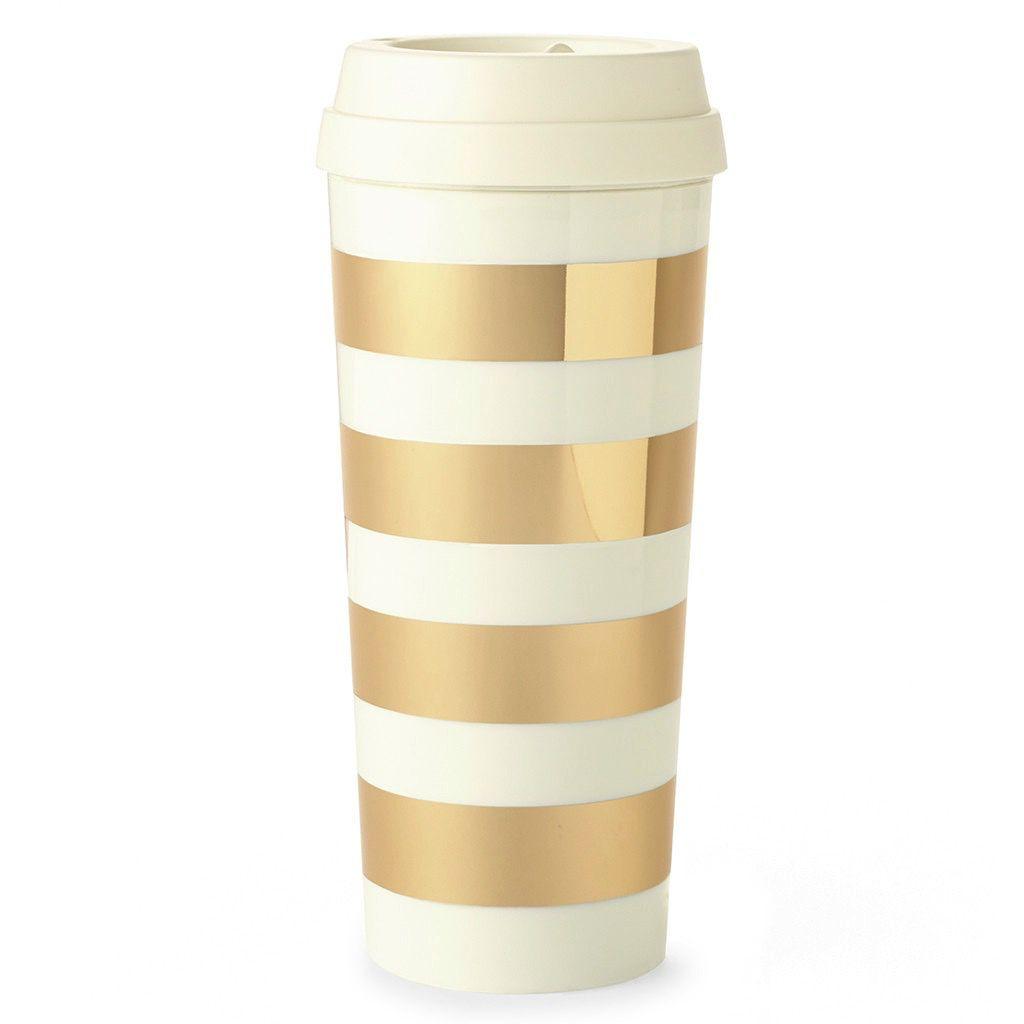 Mug Kate Spade New York Thermal Mug - Gold Stripe