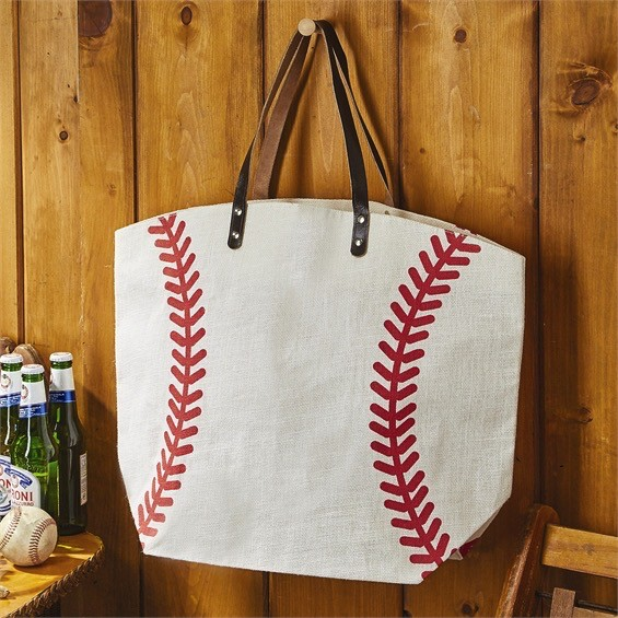 Tote Baseball Jute Bag