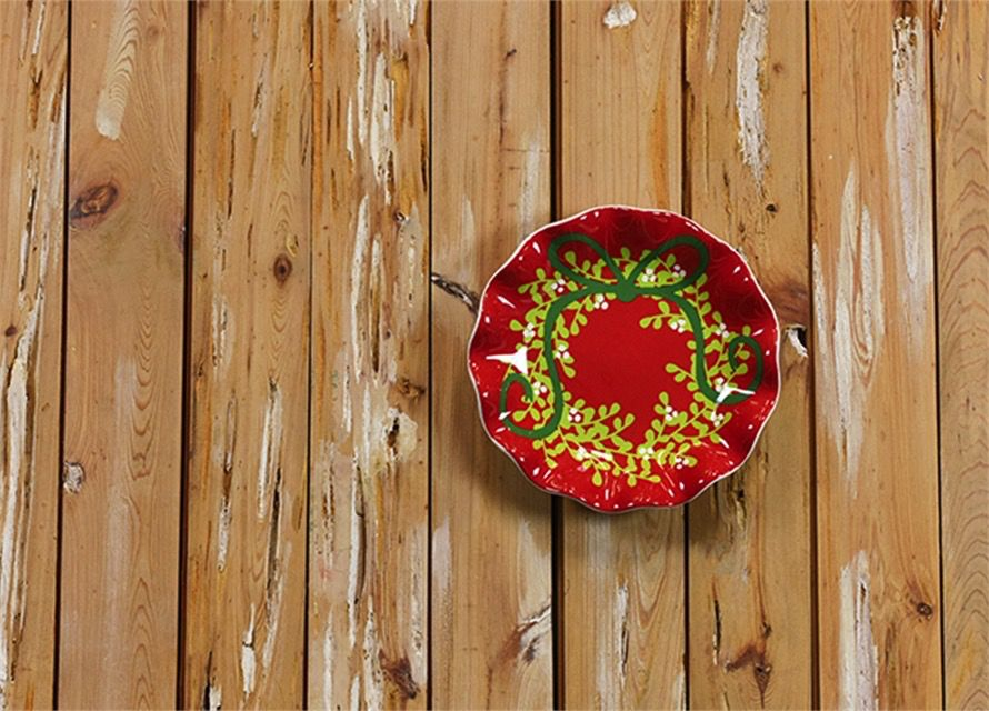 """Festoon 8"""" Ruffle Plate Red By Coton Colors"""