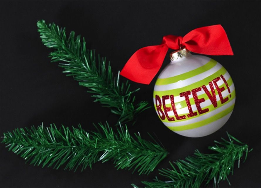 Ornament Believe 2 Glass Ornament