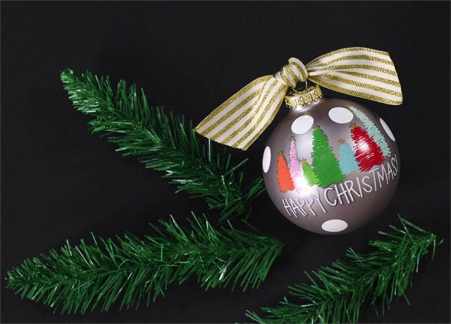 Ornament Bottlebrush Tree Glass Ornament