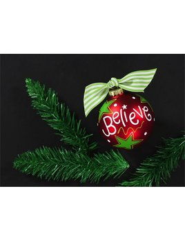 Ornament Believe Christmas Glass Ornament