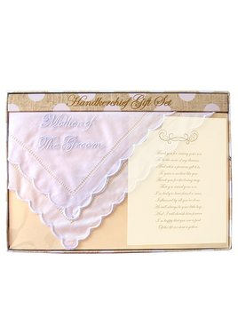 Mother of the Groom Handkerchief Gift Set