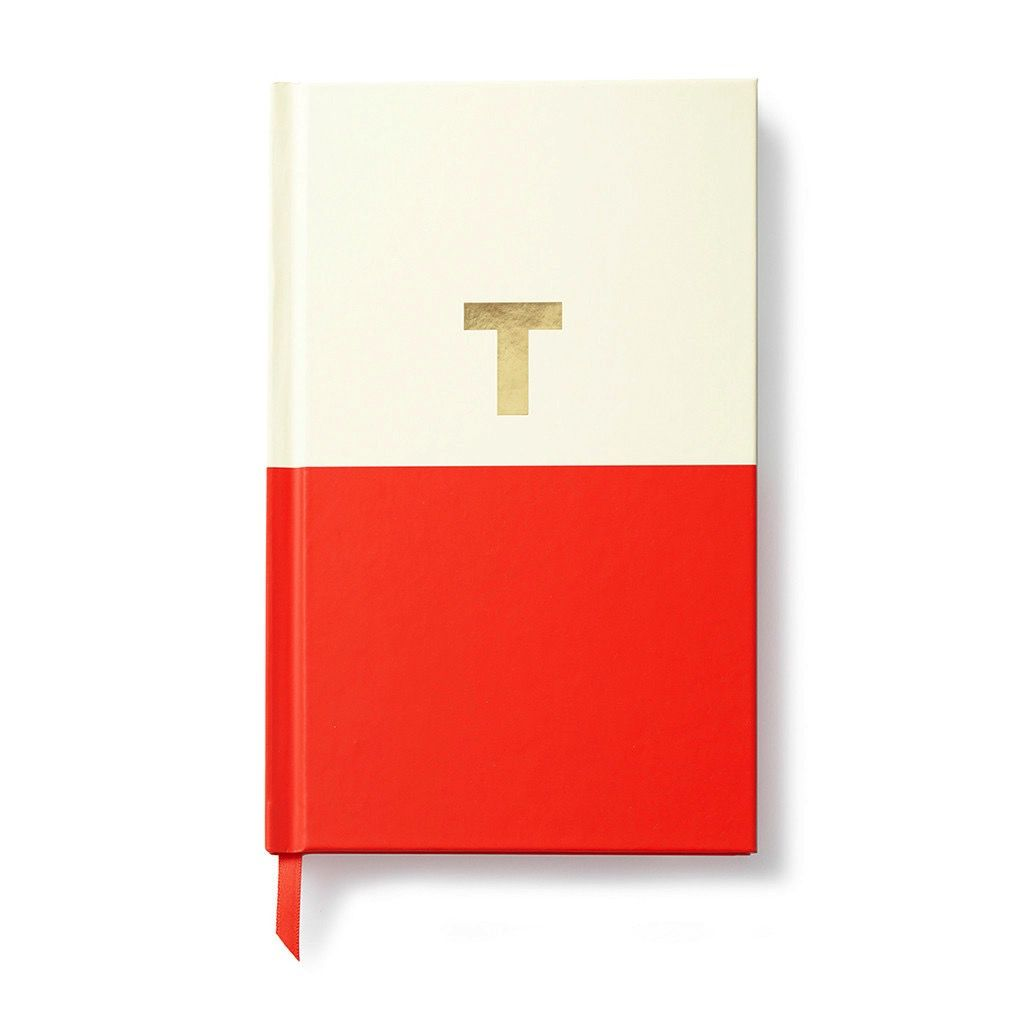 Kate Spade New York Dipped Initial Notebook - T - Jeannine\'s Boutique