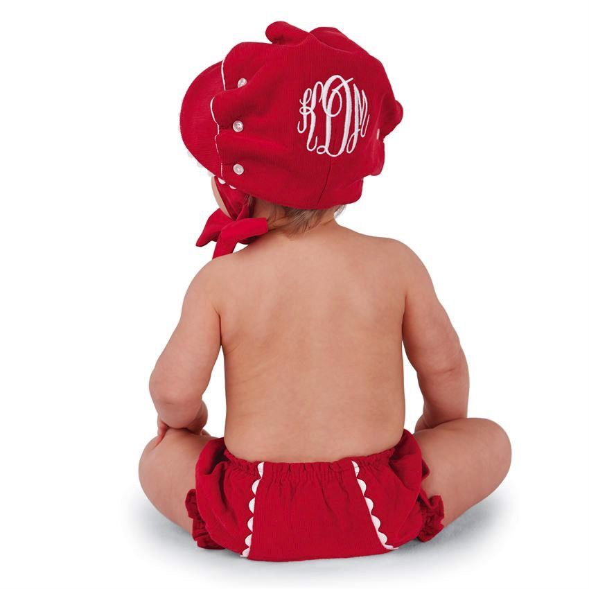 Red Corduroy Bonnet