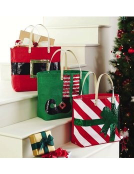 Tote Dazzle Holiday Jute Totes