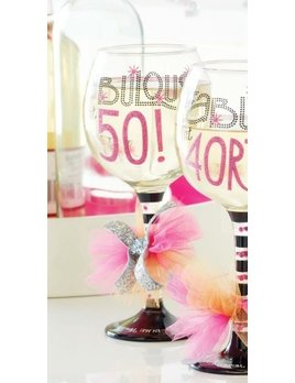 Wine Glass Fabulous At 50 Wine Glass