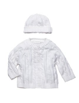 Cable Knit Sweater Set with Hat