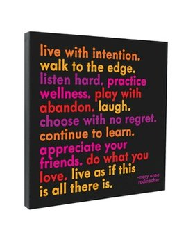 Sign Live With Intention - Quotable Canvas