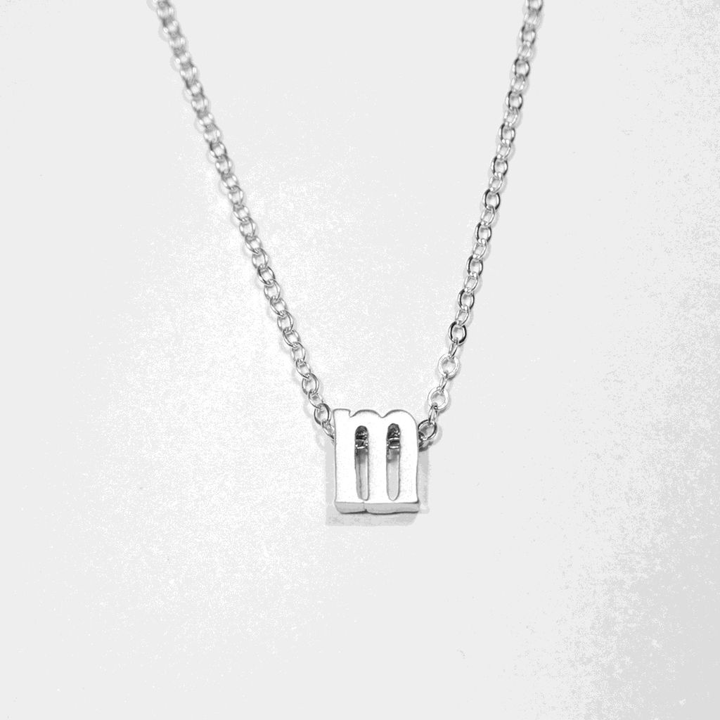 Necklace Initial Silver Letter Necklace