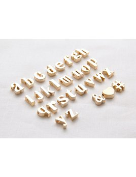 Necklace Initial Letter Gold Necklace