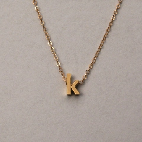 Necklace Initial Gold Letter Necklace