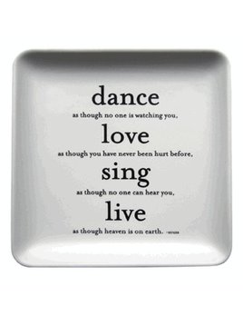 Quotable Dance Love Sing Trinket Tray