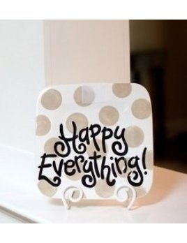 Platter Neutral Dot Happy Everything Mini Platter