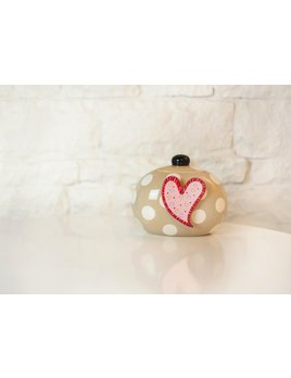 Neutral Dot Happy Everything Mini Cookie Jar