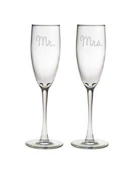 Glasses Mr. & Mrs. Champagne Glass Set of 2
