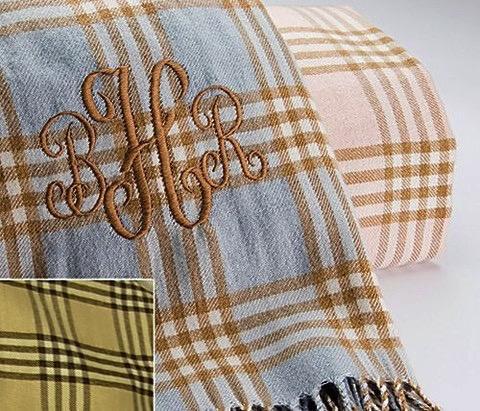 Blanket Plaid Blanket with Fringe