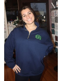 Sweatshirt Monogrammed Ladies 1/4 Zip Pullover Sweatshirt