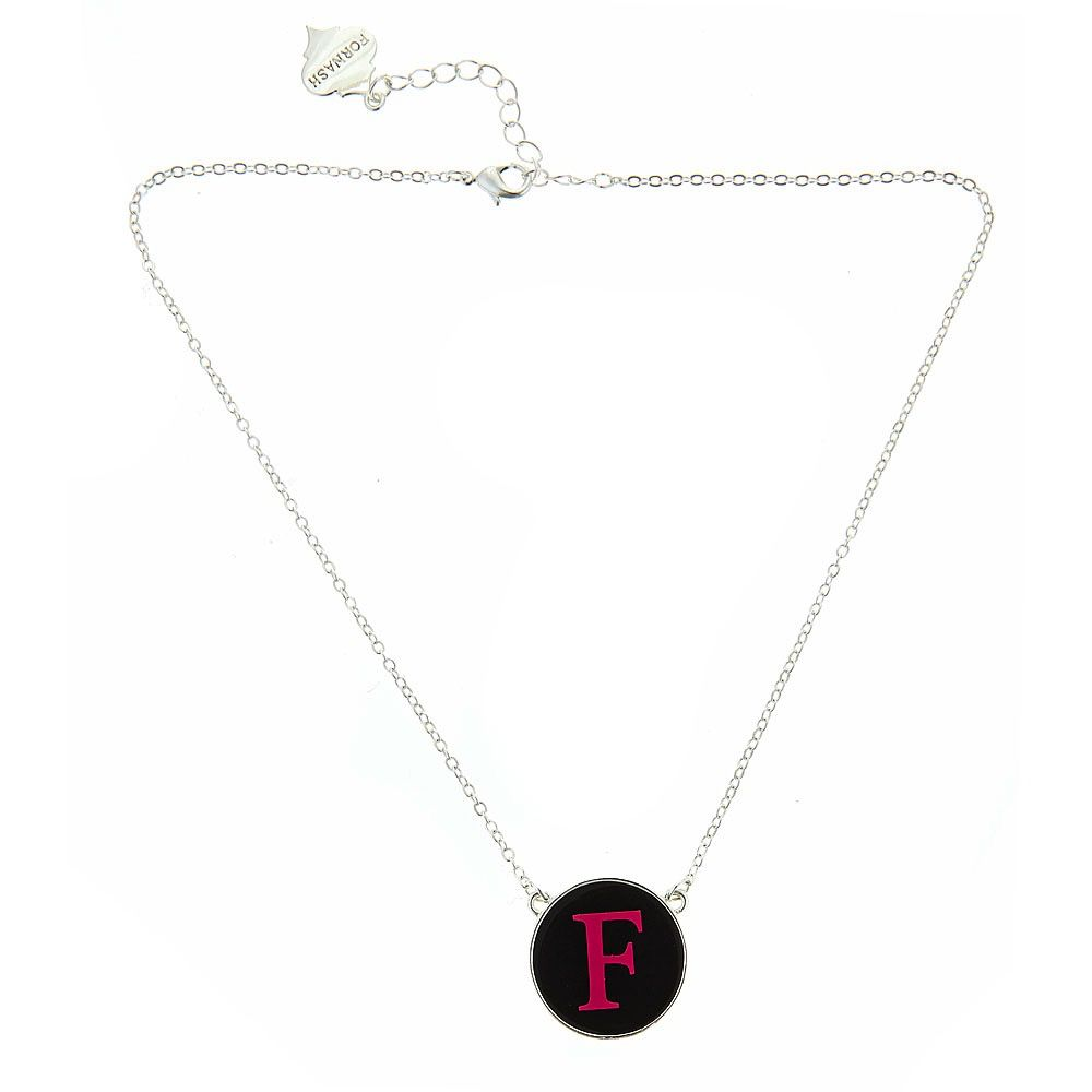 Necklace Monogrammed Small Enamel Fornash Necklace