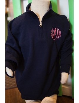 Sweatshirt Monogrammed Youth 1/4 Zip Pullover Sweatshirt