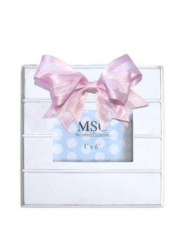 Personalized Gingham Bow Rectangle Frame