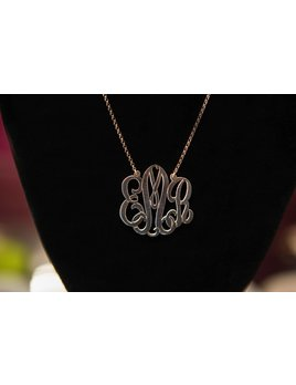Necklace Monogrammed Necklace