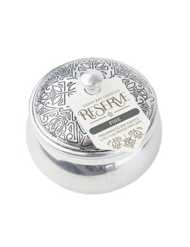 candle 4 oz Reserve Silver Tin Candle