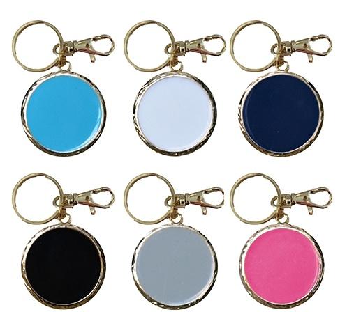 Personalized Enamel Disc Keychain
