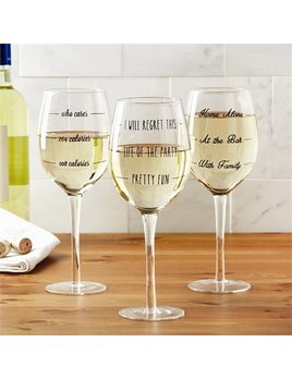 "Wine Glass ""Wine Not?"" Wine Glass"