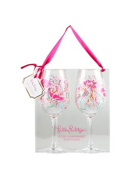 Wine Glass Lilly Pulitzer Acrylic Wine Glass Set