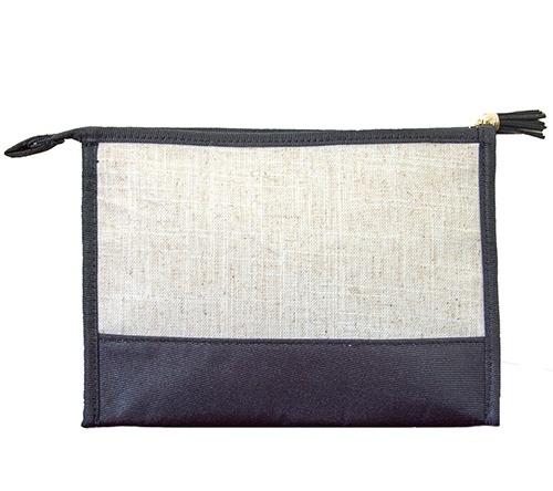 Cosmetic Bag Monogrammed Linen Cosmetic Bag