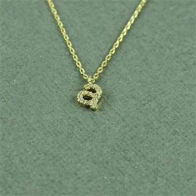Necklace Lower Case CZ Intitial Necklace by Cool and Interesting