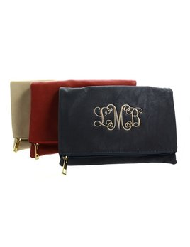 Clutch Luxe Foldover Monogrammed Clutch
