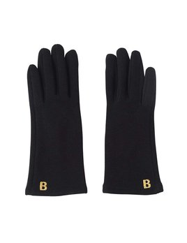 Chelsea Intitial Black Gloves