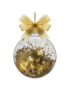 Monogrammed Glass Ornament Ball