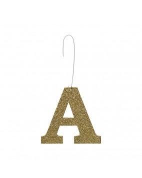 Initial Glitter Ornament