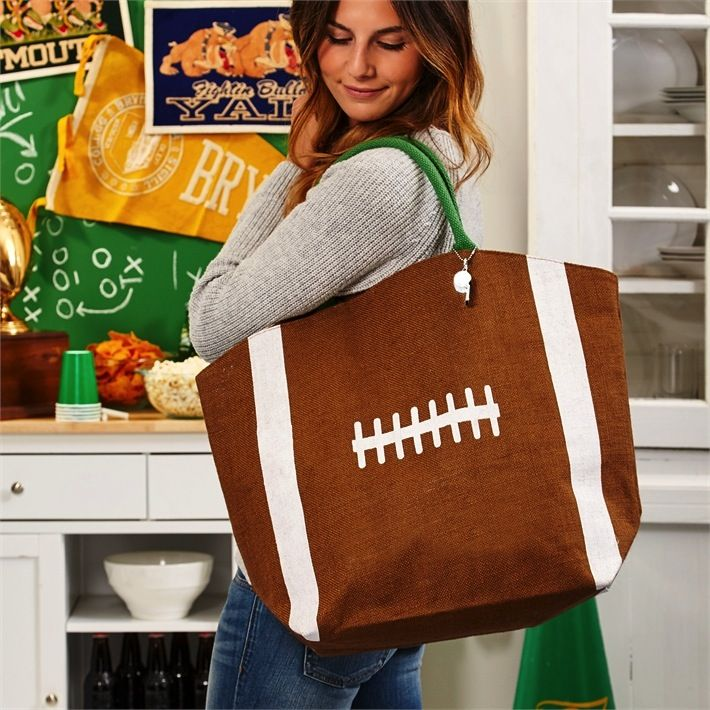Tote Touchdown Jute Bag with Whistle