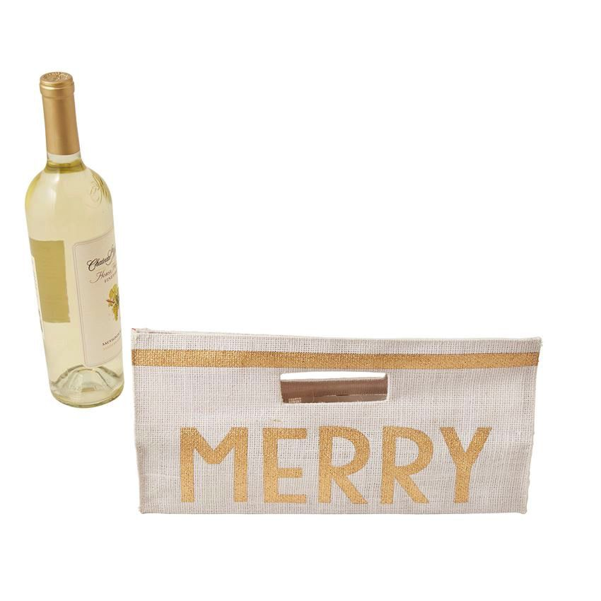 Horizontal Glitter Wine Bags