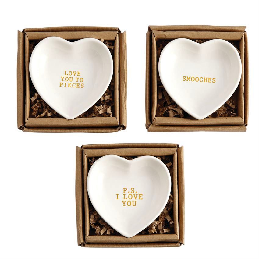 Gold Heart Trinket Dishes