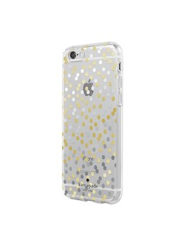 Kate Spade New York Protective Hardshell iPhone 7 Phone Case - Gold/Silver Confetti Dot