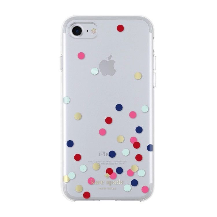 Kate Spade New York Protective Hardshell iPhone 7 Phone Case - Multi Confetti Dot