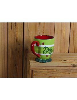 Mug Festoon Ruffle Mug by Coton Colors- Citron