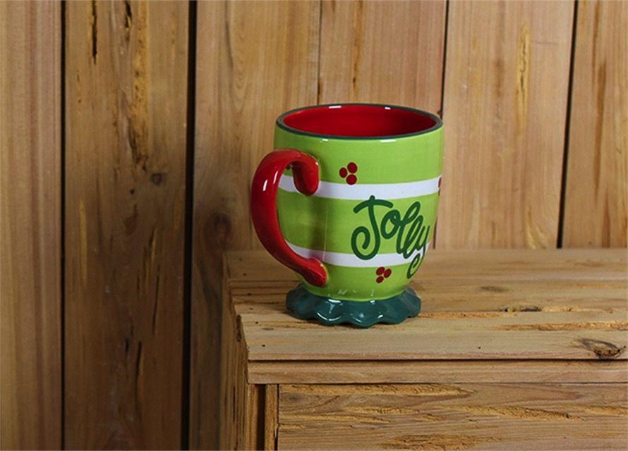 Mug Festoon Ruffle Mug by Coton Colors- Citron