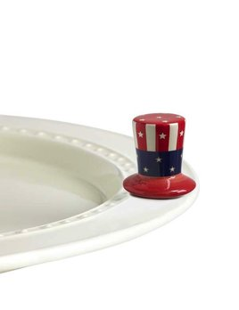 Minis Attachment Nora Fleming Minis - Uncle Sam Hat
