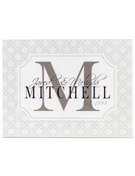 Sign Personalized Family Name Plaque -  12 X 16